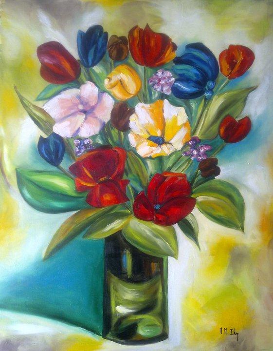 Florero primaveral