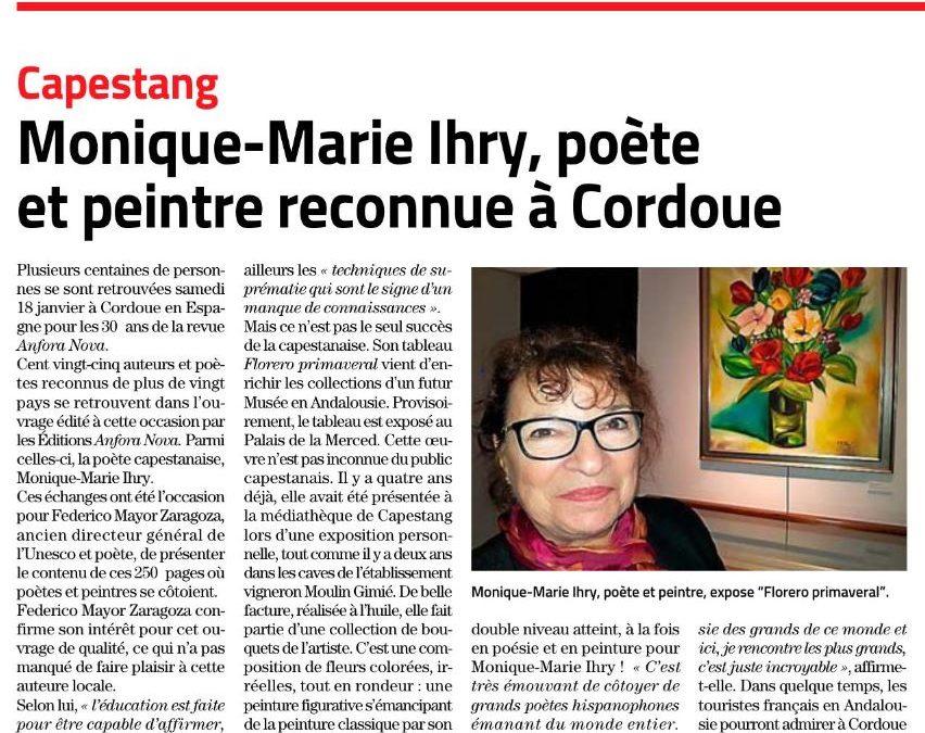 Article du Midi Libre du 28 janvier 2019