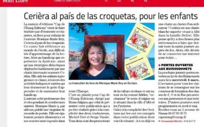 Article dans Le journal Le Midi Libre du 2 mars 2020